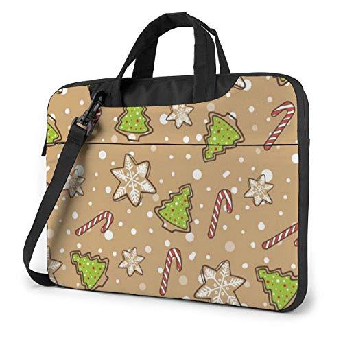 Christmas Laptop Sleeve Case 15.6 Inch Computer Tote Bag Shoulder Messenger Briefcase for Business Travel