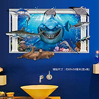 RTLJN Wallpaper Wall Sticker Cartoon Underwater World...