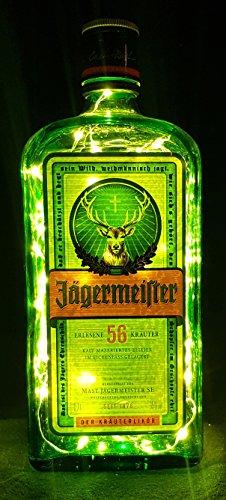 Jägermeister – Linterna de botella con 80 LED, blanco cálido, idea de regalo