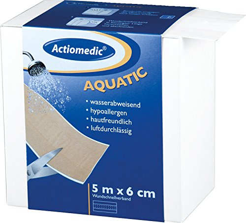 Actiomedic® AQUATIC Wundschnellverband Hautfarben 6 cm x 5 m