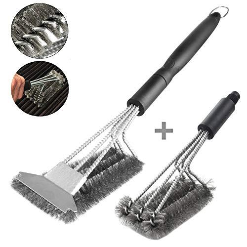 Cepillo para barbacoa con rascador, cepillo de limpieza 3 en 1 de...