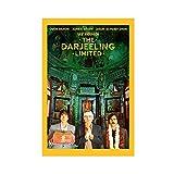 Classic Retro Film Poster Frame The Darjeeling Limited 2 Canvas Poster Bedroom Decor Sports Landscape Office Room Decor Gift Unframe:20×30inch(50×75cm)