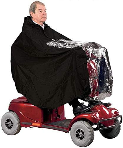 Best Mobility Scooter Accessories (2021 Reviews and Guide) - Rain Poncho