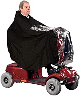 Nomiou Mobility Scooter Rain Cover Waterproof Material Protect You and Your Scooter from Rain Snow Sleet and Sun