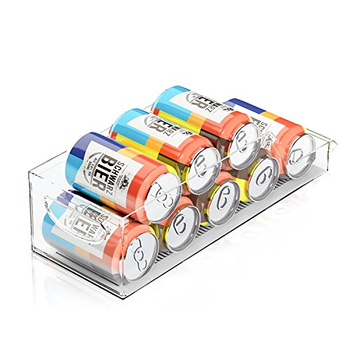 Marchpower Beverage can Organizer Clear Refrigerator Storage BPA-Free Drawer Organizers for for Refrigerator Freezer and Pantry Storage 0