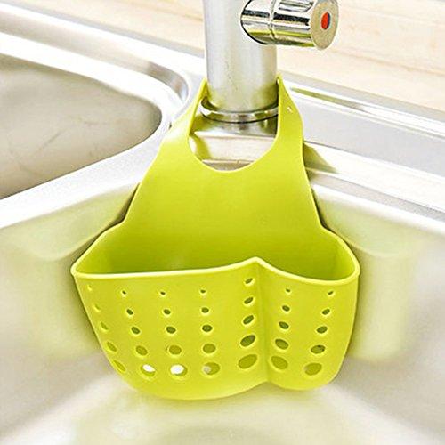 Ophangbare milieuvriendelijke doos opknoping spons houder gootsteen Tidy wastafel organisator - collectie opslag rek opknoping voor badkamer keuken 21.5x16x5cm gereedschap(Sent in Random) green As Picture Show