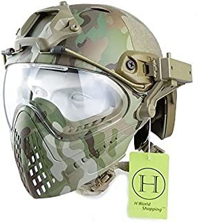 Integrated Tactical Airsoft Paintball Gafas de Cara Completa Piloteer Casco Protector con Careta extraíble