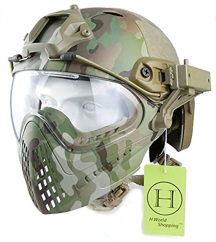 H World UE - Casco integral táctico para airsoft o painball, con...
