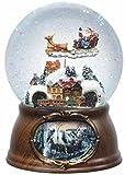 6.5' Musical Rotating Santa Claus with Train Christmas Snow Globe Glitterdome