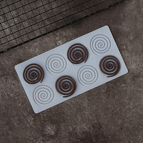 SHUHUI Whirlpool Forme Chocolat Silicone Moule Gâteau Haut Décoration Tourbillons Forme Transfert Feuille Moule Gâteau Haut Décotation