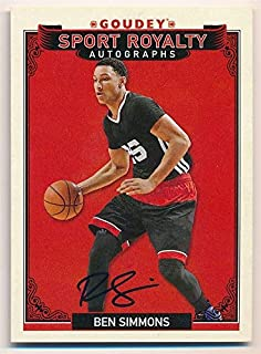 Ben Simmons 2016 UD Goodwin Champions RC Rookie Sport Royalty Autograph SP AUTO