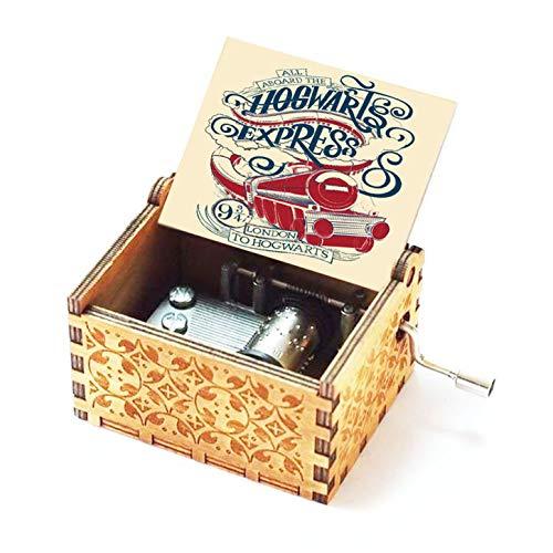 Evelure Caja de música de Madera, Estaciones Cruzadas, Tema de Plataformas 9 y 3/4, Cajas de música talladas a Mano y Creativas talladas a Mano los Mejores Regalos (Color3/4)