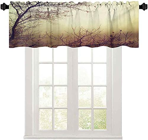 Farmhouse Valance Vintage Leafless Autumn Tree Branches Background in Saturated Tones Ecology product image