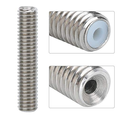 AMONIDA 【𝐒𝐩𝐫𝐢𝐧𝐠 𝐒𝐚𝐥𝐞 𝐆𝐢𝐟𝐭】 M6 Durable Stainless Steel 3D Printer Accessories Practical PTFETube, 10PCS for Makerbot MK7/MK8