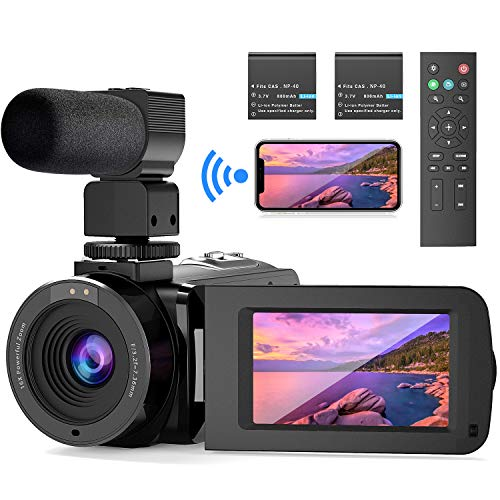 WiFi Videocámara UHD 26MP FamBrow Videocamara de Vlogging Youtube IR Visión...