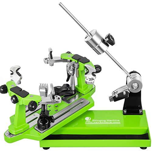VEVOR Máquina de Encordar de Tenis 53x22x25cm Máquina de Encordado de Raquetas de Tenis de Mesa Herramientas de Encordado de Raquetas de Tenis Máquina de Encordado Verde