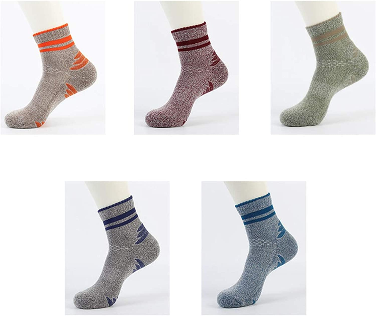 Socks Men's Outdoor Sports Socks Basketball Football Socks Breathable and QuickDrying 5 Pairs