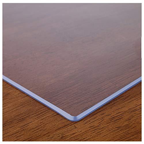 Protector de mesa de PVC transparente, mesa protectora de escritorio, fácil de limpiar, escritorio de madera, escritorio de escritura, protector de mantel transparente, 1,6 transparente, 80 x 80 cm