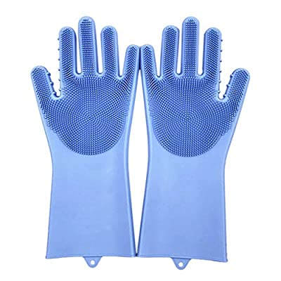 Kitchen Gadgets,New Magic Reusable Silicone Gloves Cleaning Brush Scrubber Gloves Heat Resistant Dishwashing,Cleaning Gloves by Clothful999