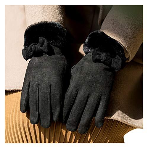 Koly-Hundebett Winterhandschuhe für Damen Damen Wool Liner Warme Thermo-Touchscreen-Handschuhe Kaltes Wetter Schnee Laufen SMS-Handschuh