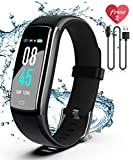 SIKADEER Fitness Tracker, Activity Tracker Watch with Blood Pressure Heart Rate Monitor, IP68 Waterproof Smart Watch with Step Counter, Calorie Counter, Sleep Monitor, Call & SMS for Android/iPhone