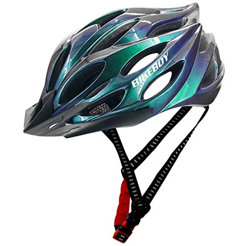 Dantazz Fahrradhelm mit Sicherheitslicht,Helm Bike Fahrrad Radhelm FüR Herren Damen Helmet Auf Die Helme Sportartikel MTB RennräDer-33x22x16cm (Multicolor)