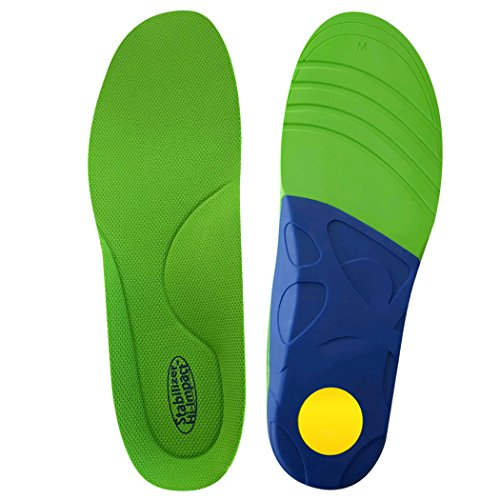 FootMatters Stabilizer Orthotic Insoles - Arch Support, Metatarsal and Heel Cradle - Medium - FSA/HSA Eligible