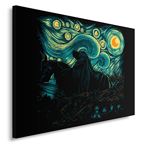 Feeby. Nightfall in Middle-Earth - DDJVigo Cuadro Sobre Lienzo, Tamaño: 60x40 cm, PELÍCULA Negro