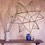 Origami Star Geometric Wall Decal Bedroom Living Room Decoration Vinyl Wall Sticker Office Modern Interior Design Decoration