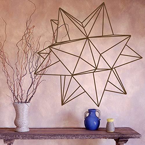 Origami estrella geométrica pared calcomanía dormitorio sala de estar decoración vinilo pared pegatina decoración