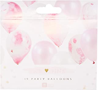 Talking Tables Pink And Gold Party Supplies | Pink Ballloons | Pink Marble Ballloons | Great For Baby Shower, Girls Party, 1st Birthday And Birthday Celebrations