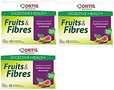 Ortis Ortisan Natural Laxative Fruit and Fibre Cubes - NEW FLAVOUR - RHUBARB/TAMARIND/FIG (36)