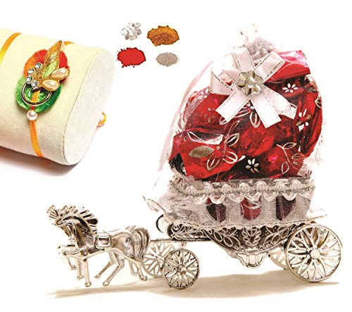 Skylofts Beautiful 10pc Chocolate Horse Decoration Piece Rakhi for Brother Rakhi Gifts for Brother
