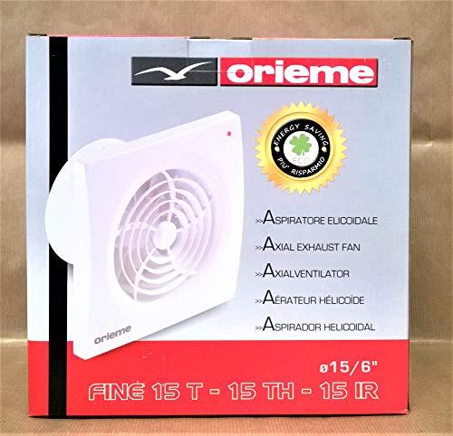 Orieme Aspiratore Ecoidale Fine 15T con Griglia Fissa e Timer Diametro 15 cm