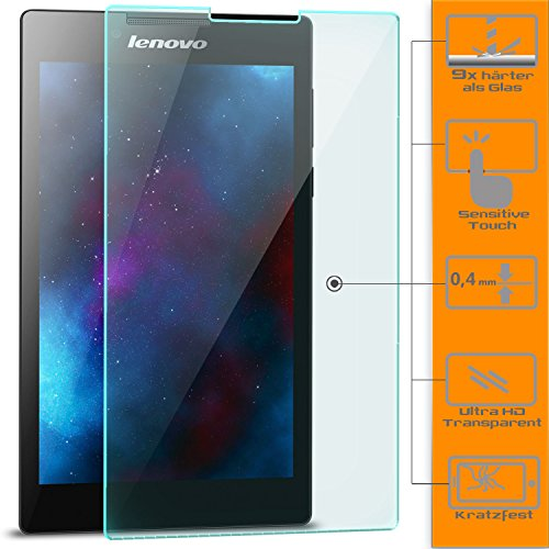 Saxonia 1x Bildschirmschutzglas für Lenovo Tab 2 A7-10