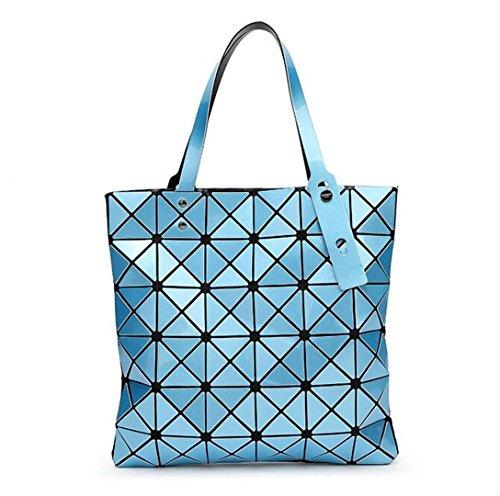 Handtaschen Bao Bao Laser Geometrische Diamant Form Silica Gel Splitter Farbe Patchwork Tote Frauen Umhängetasche Baobao Sky Blue one Size