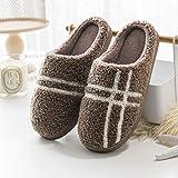 LJXLXY Zapatillas de Mujer de casa Zapatillas de algodón de los Hombres de Invierno de Invierno Indoor Lana Zapatos caseros Gruesos de algodón Inferior par de Arrastre Hombres Algodón SPA Zapatillas