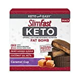 SlimFast Keto Fat Bomb Snacks, Caramel Cup, 17 Grams, 14 Count Box