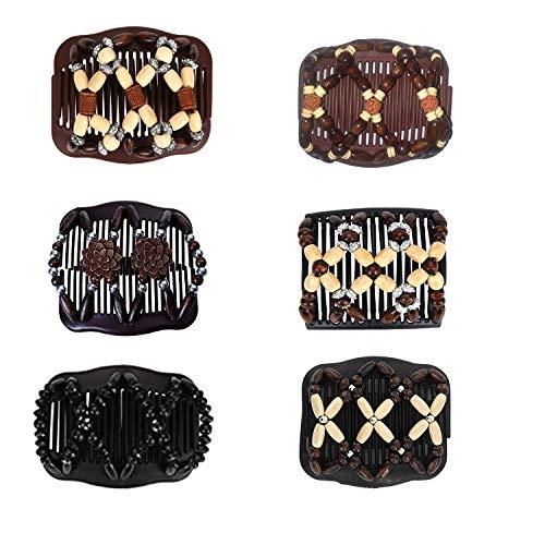 Peigne de Cheveux Extensible Magique,Pince à Cheveux Extensible,Peigne Magique,Peignes de Cheveux Perles,Elastique Magique,Accessoire Cheveux Femme,Femmes Accessoires (6pcs)