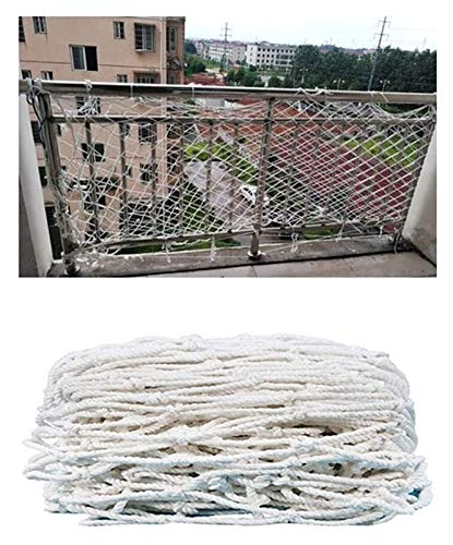 Decor Net, Child Safety Net White Cargo Net Playground Climbing Net Rock Rope Ladder Swingset Railing Tree House Rope Thick 6mm Grid 10cm (Size : 4x4m(13x13ft))