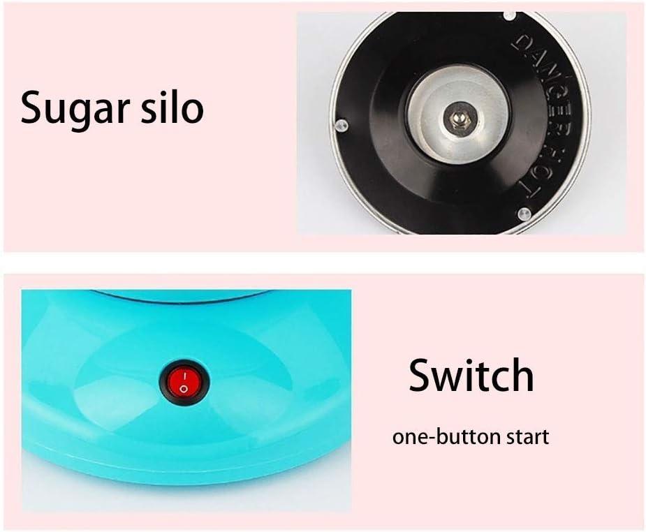 zyl Machine à Barbe à Papa Gourmet Gadgetry électrique Fabricant de Barbe à Papa, rétro Fabricant de Barbe à Papa Utilisation Commerciale de fête de Mariage de Pentecôte, Bleu Pink
