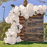Guirlanda Globos Blanco, SIMSPEAR Kit Arco Guirlanda Globo Blanco Globos de Cumpleaños para Decoración de Cumpleaños Baby Shower Despedida de Soltera de Compromiso de Boda