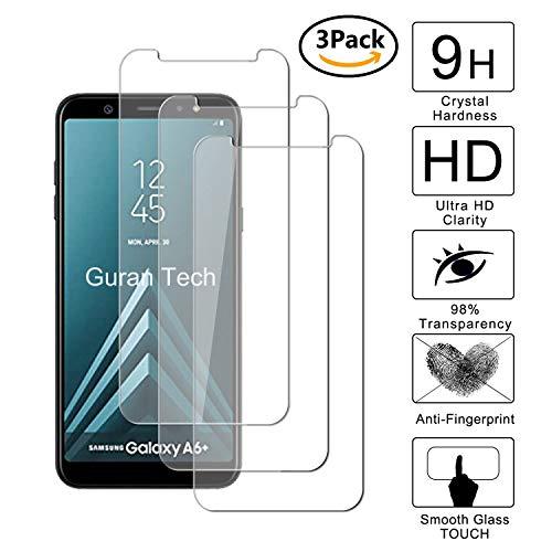 Guran [3-Unidades] Protector de Pantalla Vidrio Cristal Templado para Samsung Galaxy A6...