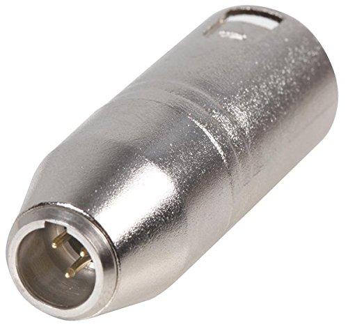 Cable-Core - Conector adaptador para conexión XLR macho a mini XLR macho