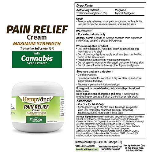 As Seen On TV Hempvana Pain Relief Cream