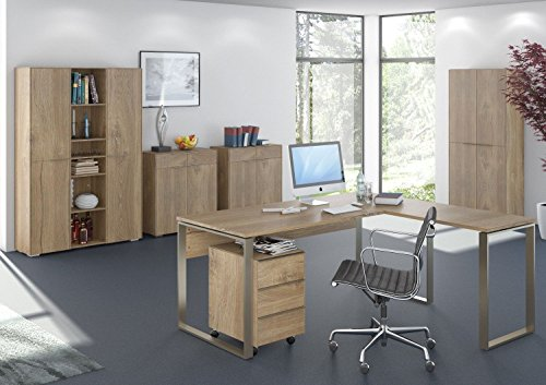 moebel-dich-auf Komplettes Arbeitszimmer - Büromöbel Komplett Maja Yolo in Riviera Eiche (Set 5)