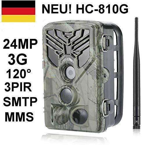 SUNTEKCAM - Telecamera da caccia 24 MP 3 G invisibile 42 LED neri 0,3 secondi trigger a 120°