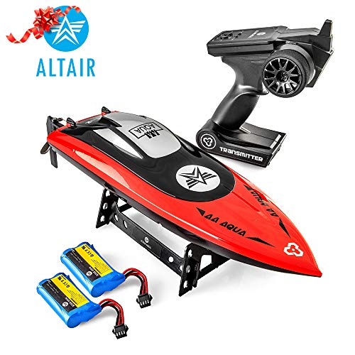 Altair AA102 RED RC Boat for Pools or Lakes [Ultra Fast Pro Caliber] Water Safety Propeller & Self Righting System | 2 Batteries Included | 30 km/h (Lincoln, NE Company)