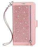 Uposao pour Huawei P20 Lite Glitter Coque,PU Premium Etui Housse en Cuir Portefeuille de Protection...