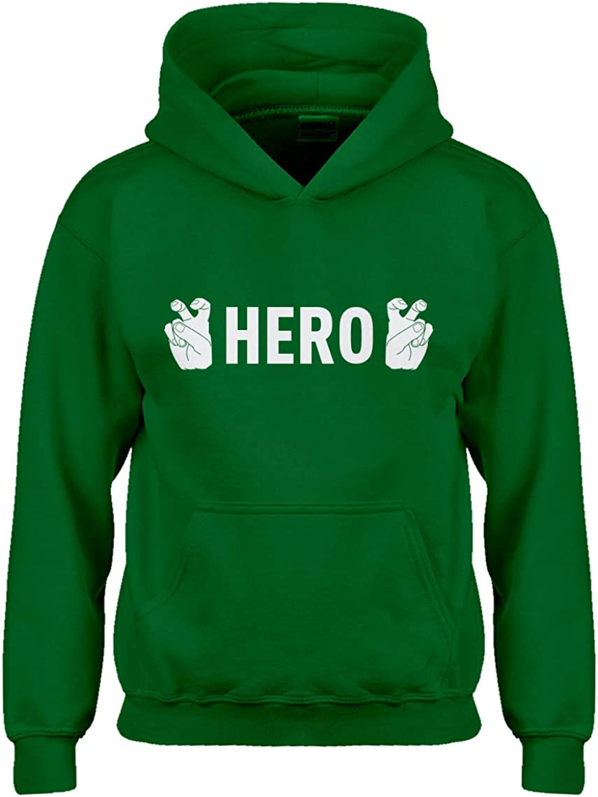 Indica Plateau Hero Finger Quotes Hoodie for Kids